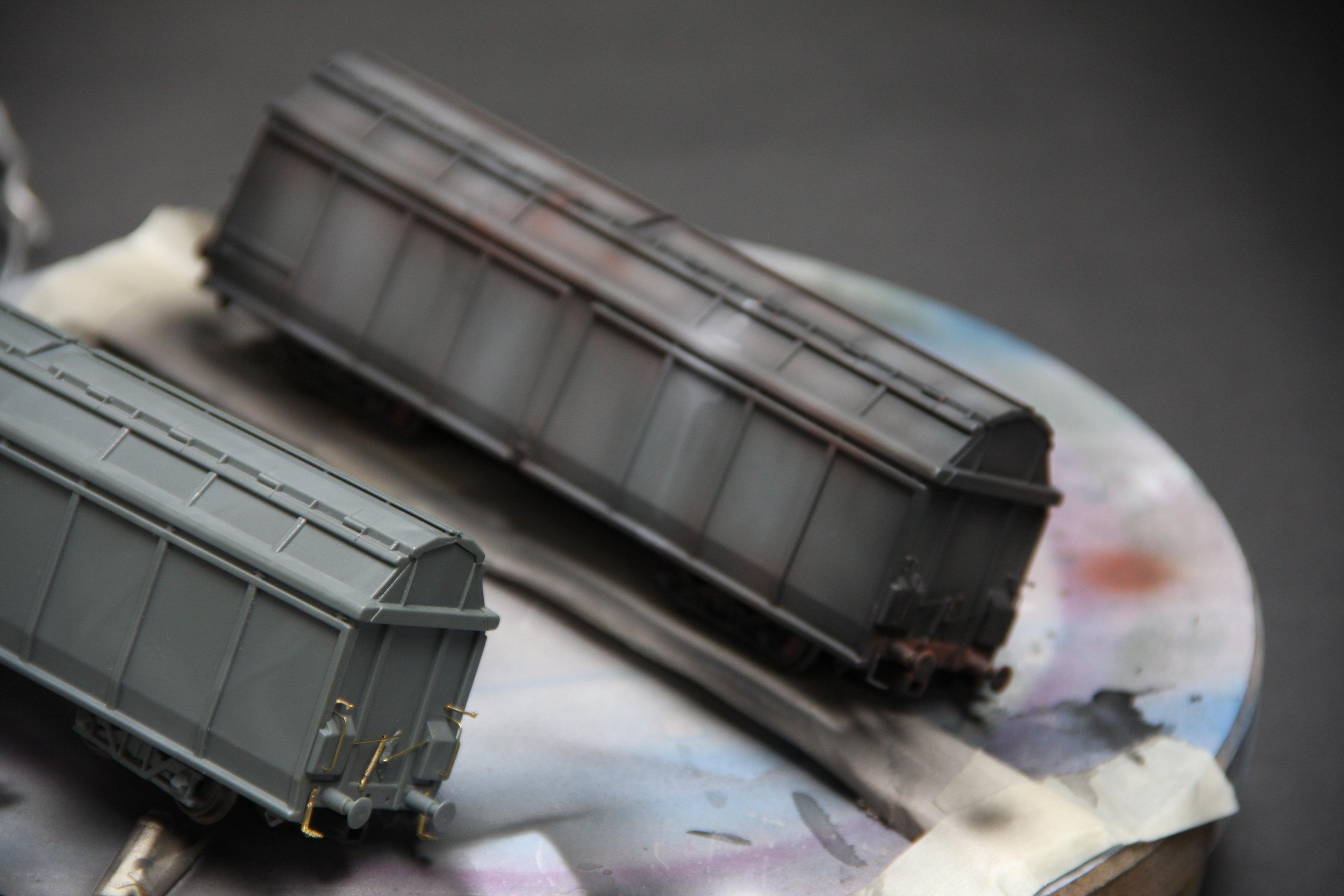 eind resultaat airbrush treinen